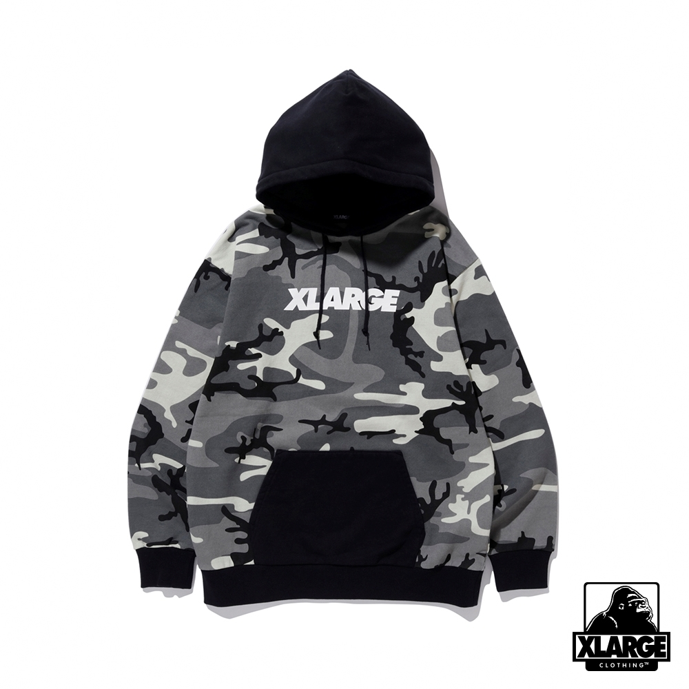 XLARGE CAMO PULLOVER HOODED SWEAT連帽上衣-黑