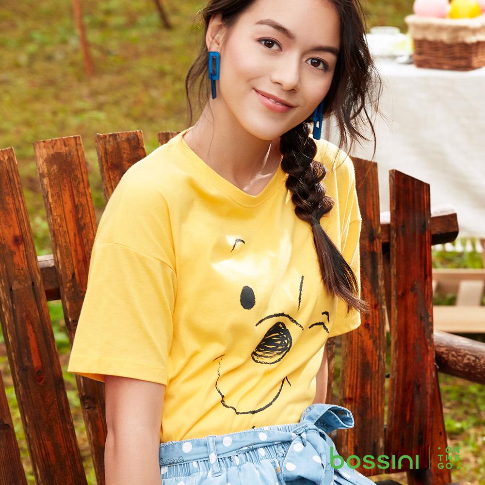 bossini女裝-小熊維尼印花短袖T恤03深黃