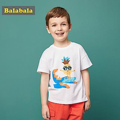 Balabala巴拉巴拉-衝浪寶貝造型印花短袖T恤-男(2色)