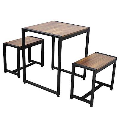 ALTO 工業風餐桌組-2人座 (1桌2椅)
