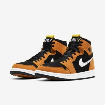 Nike 籃球鞋 Jordan 1 Zoom Air 男鞋 氣墊 舒適 避震 包覆 喬丹一代 穿搭 棕 黑 CT0978002