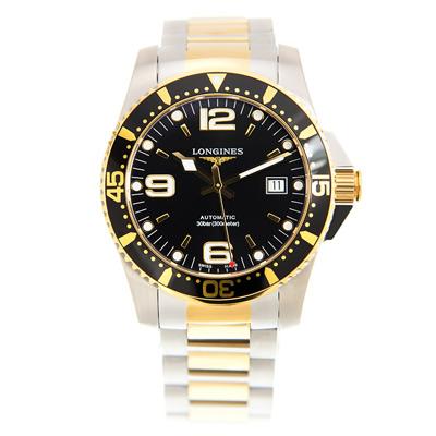 LONGINES 浪琴 300米半金黑面潛水款(L37423567)x41mm