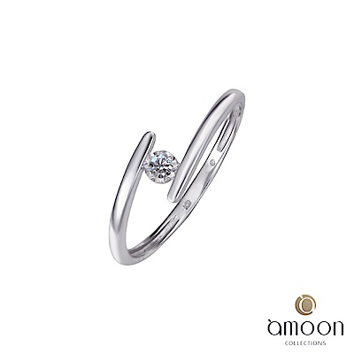 amoon 浪漫艾菲爾系列 相隨 K金鑽石戒指