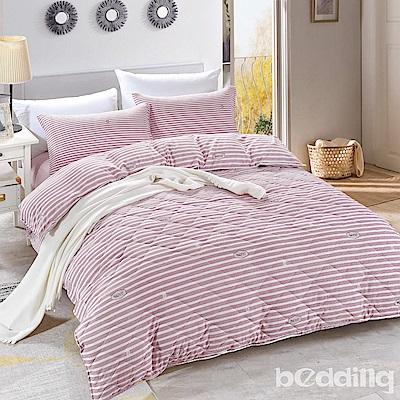 BEDDING-舒適系列海島棉6尺加大雙人薄式床包三件組-蜜語時光