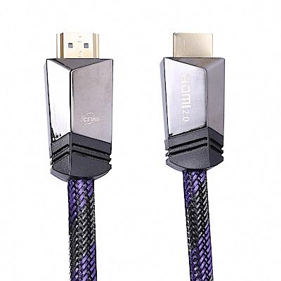 TCSTAR 編織3D高速乙太網4K畫質HDMI2.0公對公-2.4m TCW-H3240