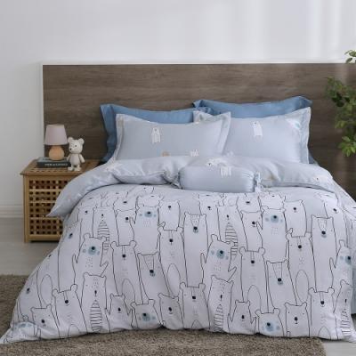 Cozy inn 萌熊假期 雙人 萊賽爾天絲兩用被套床包組