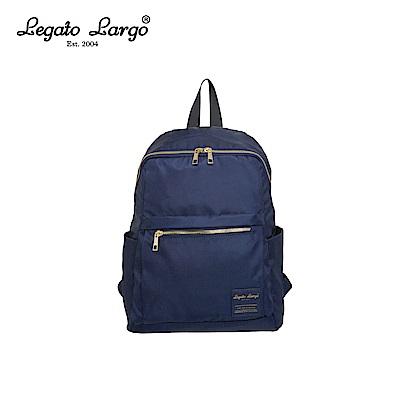 Legato Largo 防潑水微光澤後背包-深藍 LH-E0722NV