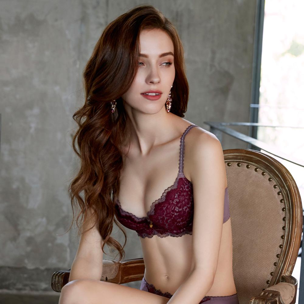 曼黛瑪璉 Marie One 蕾絲內衣  B-F罩杯(絲緞紅)