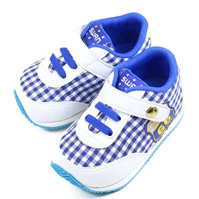 Swan天鵝童鞋--賽車小童機能學步鞋 1567-白