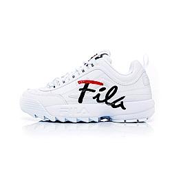 FILA DISRUPTOR女復古運動鞋(鋸齒鞋)-白5-C113T-125