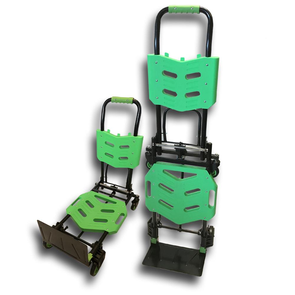 金德恩 台灣製造專利款 耐重王系列之百變行李四輪運輸手推車/最大承載重量150公斤