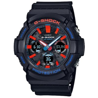 CASIO 卡西歐 G-SHOCK G-SQUAD 都會霓虹 太陽能雙顯電子錶 GAS-100CT-1A