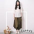 betty's網路款 褲管束口棉麻寬褲(墨綠色)