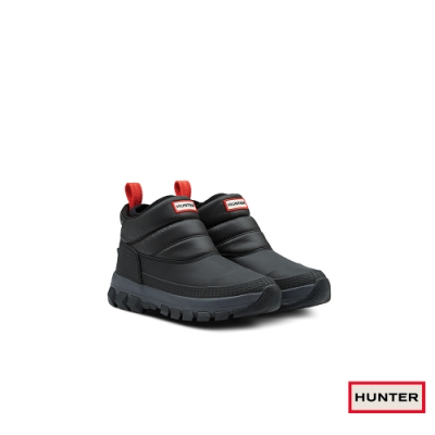 HUNTER - 女鞋-低筒雪靴 - 黑