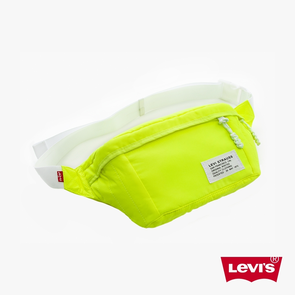 Levis 男女同款 機能肩背包 潮流螢光 經典布標細節