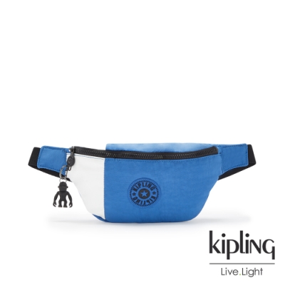 Kipling 天堂藍雲朵色潮流隨身腰包-FRESH
