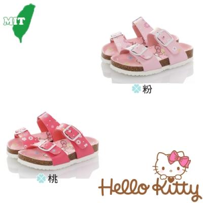 HelloKitty童鞋 輕量減壓吸震腳床型拖鞋-粉.桃