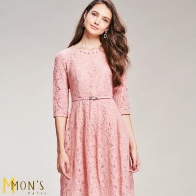 MONS 浪漫蕾絲洋裝(微彈性)