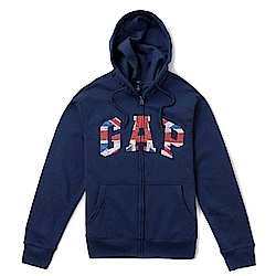 GAP 經典LOGO連帽外套-深藍色