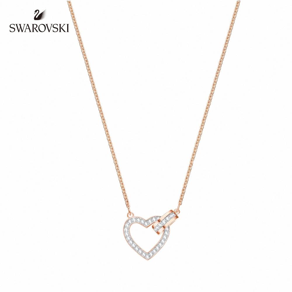施華洛世奇 Lovely 百搭迷人鍍玫瑰金色項鏈