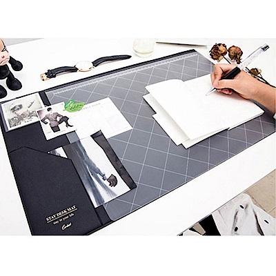 【COMET】韓版超大加厚電腦桌墊-黑(EB-E13B)