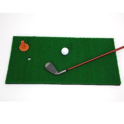 GOLF高爾夫球室內揮桿練習墊附球tee.室內外防滑便攜切桿草皮打擊墊高球運動訓練用品裝備