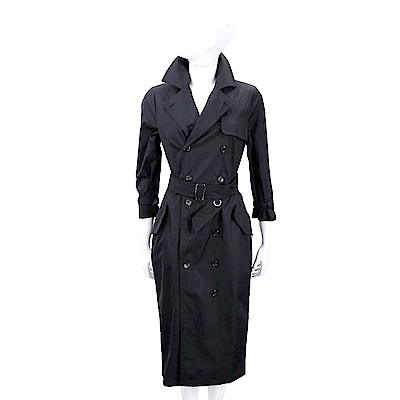 Max Mara 雙排釦黑色洋裝式風衣