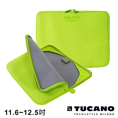 TUCANO Colore 多彩時尚筆電防震內袋 11.6-12.5吋-綠色