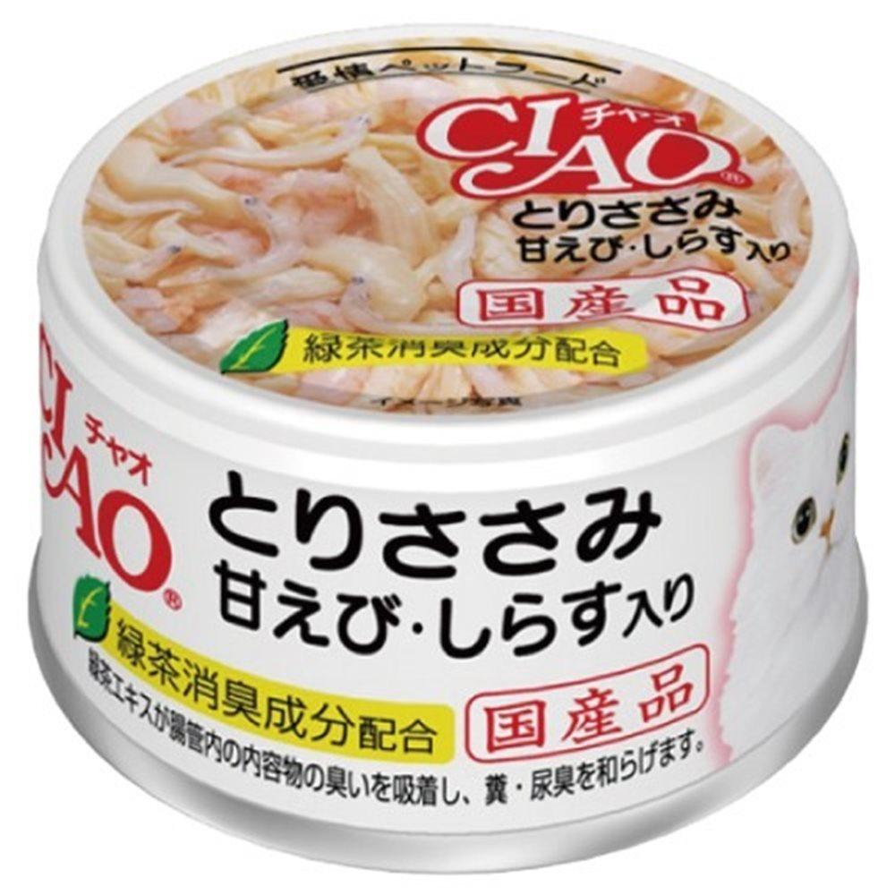 CIAO 旨定罐20號 (雞肉+甜蝦+吻仔魚) 85g 12罐組