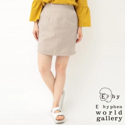 E hyphen 直條紋合身短裙