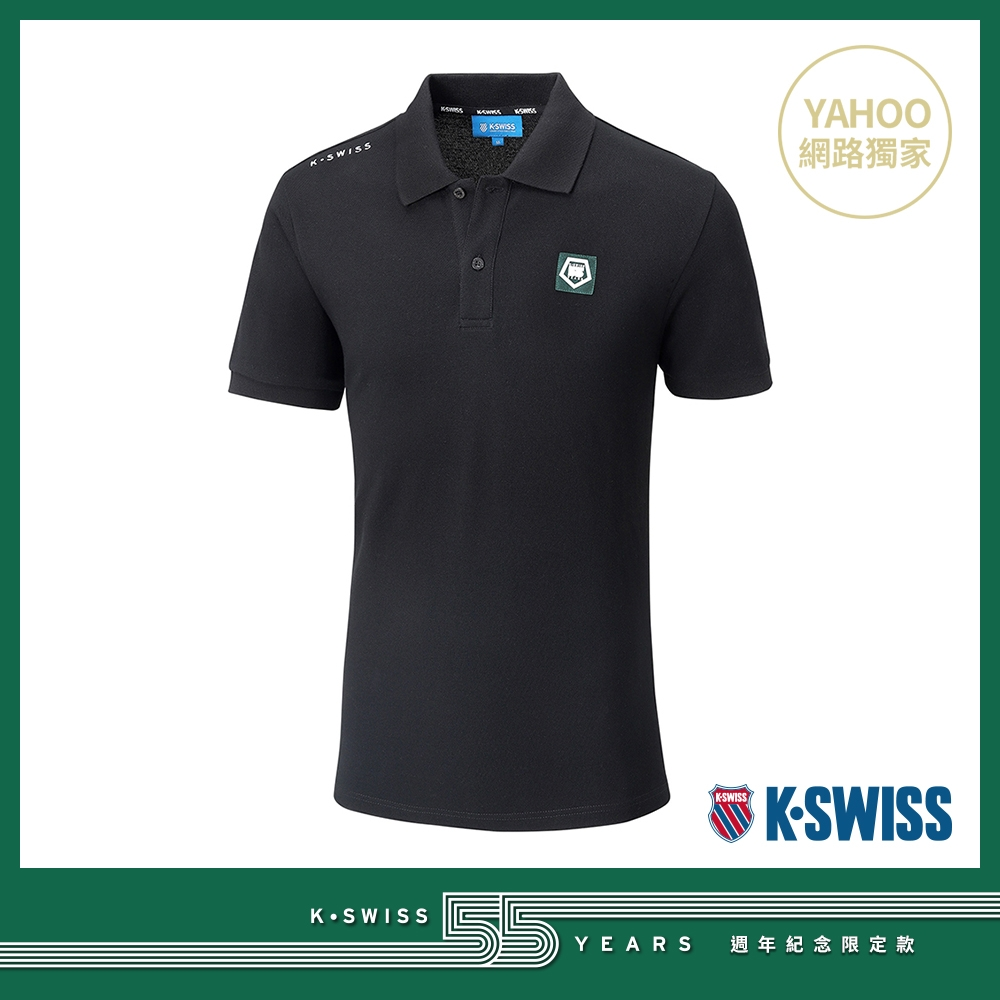 K-SWISS 55TH SOLID POLO短袖Polo衫-男-黑