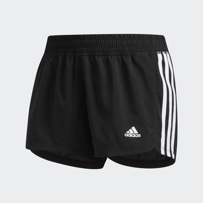 ADIDAS PACER 3S WVN  女運動短褲-黑-EC0475