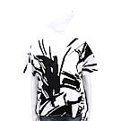 Max Mara-WEEKEND 創意塗鴉白色棉質短T恤
