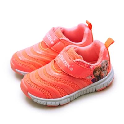 Disney 迪士尼 冰雪奇緣 FROZEN 電燈慢跑鞋 蜜桃橘 94443