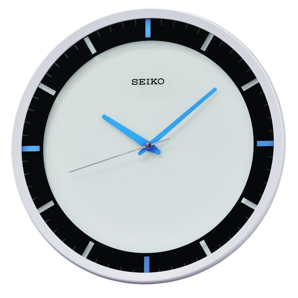 SEIKO 日本精工 滑動式秒針 靜音 掛鐘(QXA769W)白/30.7cm