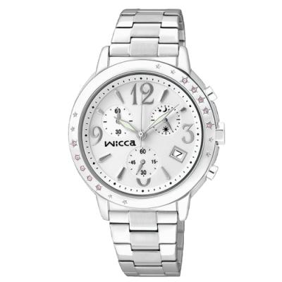WICCA 甜美少女風三眼計時腕錶 BM1-113-11