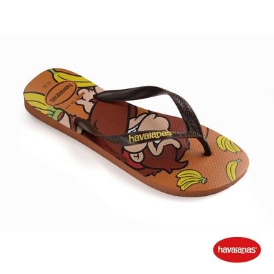 Havaianas哈瓦仕 拖鞋 夾腳拖 人字拖 瑪利歐 猩猩  巴西 男鞋 女鞋 黃 4140269-1976U Mario Bros