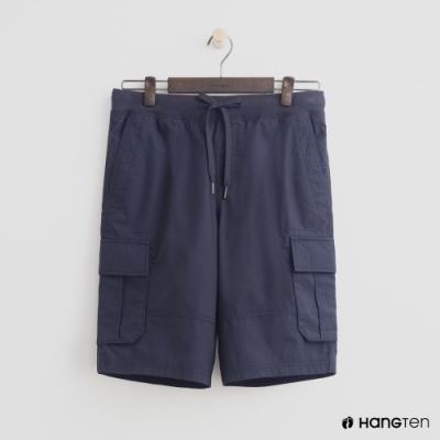 Hang Ten - 男裝 - 綁帶造型口袋棉質短褲-藍