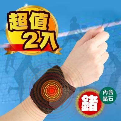 【Yi-sheng】*鍺元素*台灣製高機能雙包覆護手腕(2入)