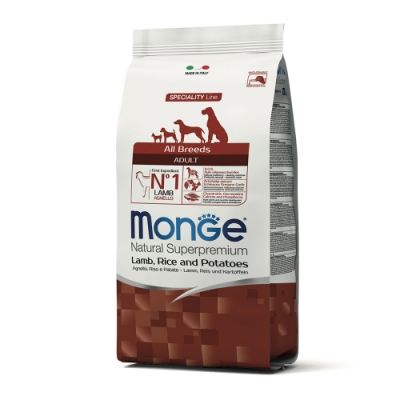 Monge瑪恩吉 天然呵護 成犬糧(羊肉+米+馬鈴薯)12kg