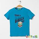 bossini男童-印花短袖T恤06藍