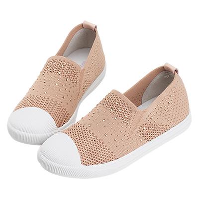 Robinlo & Co.活潑圓頭懶人襪子休閒鞋 粉紅