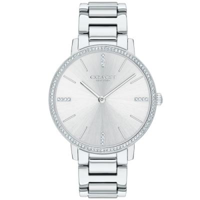 COACH 璀璨晶鑽時尚女錶(14503353)-銀/35mm