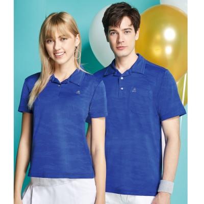 SPAR迷彩緹花吸排女版短袖POLO衫S206219暮藍色