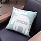 moz瑞典 北歐風雙面抱枕套(經典LOGO-天空藍)45cm product thumbnail 1