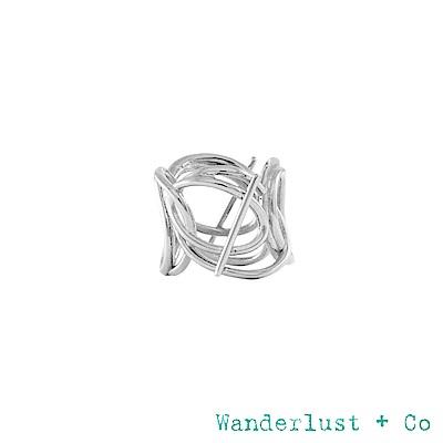 Wanderlust+Co INFUSION系列 多層次星軌鍍Rhodium戒指 戒圍7