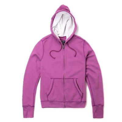 A&F 經典LOGO連帽外套(女/紫-M)
