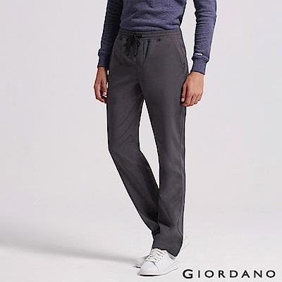 GIORDANO 男裝內刷毛腰鬆緊抽繩保暖防風長褲-05 灰色 @ Y!購物