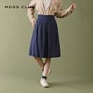 特降【MOSS CLUB】下擺細摺文青風-七分裙(三色)