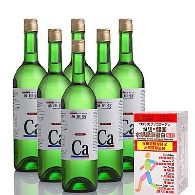 AA鈣杏懋 藤田鈣液劑買4送2 (加送渡邊膠原蛋白細粒)